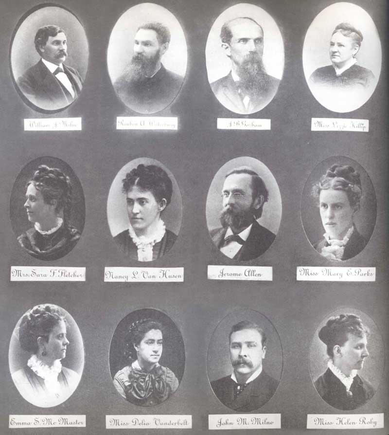 1871 faculty members and principal William Milne