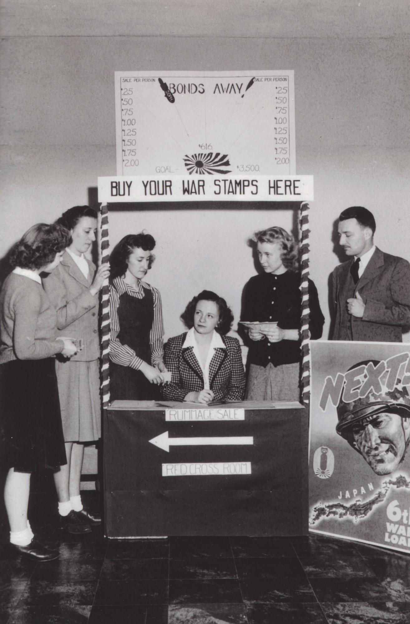 World War II war stamps booth