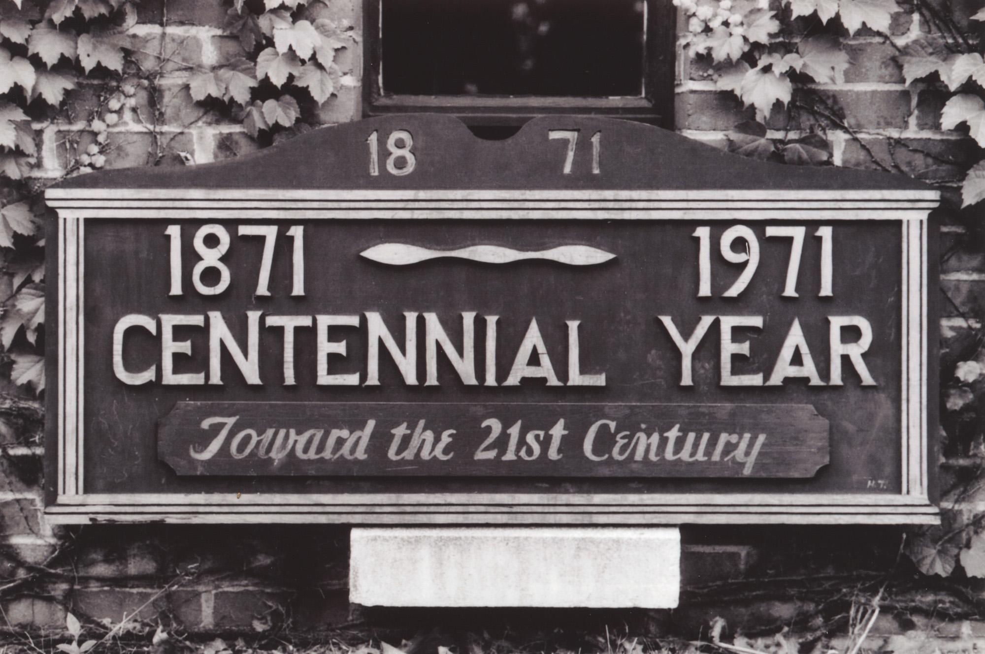 Centennial sign