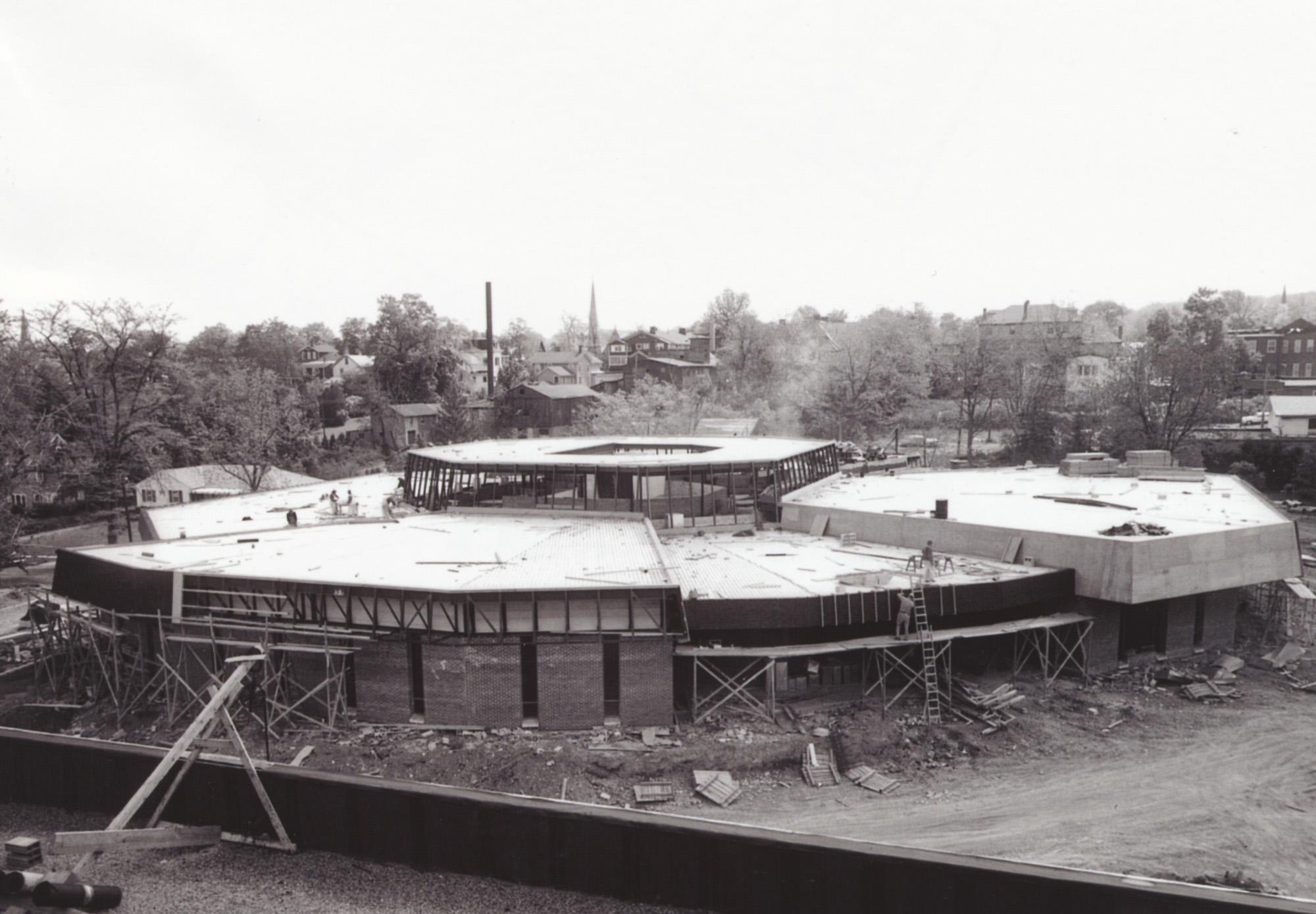 Newton Hall under construction