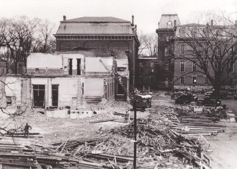 Old Main razed