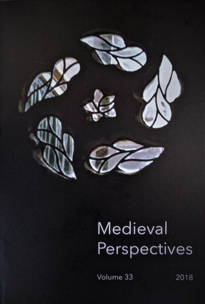 Cover of the journal Medieval Perspectives