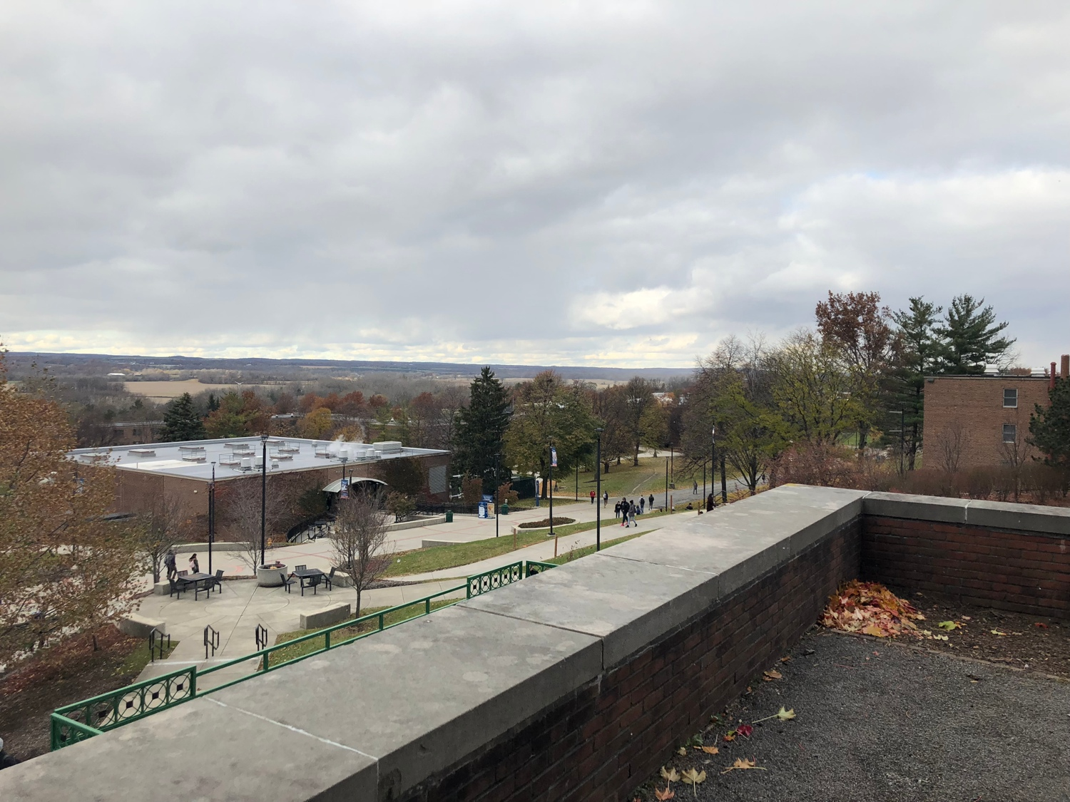 View from the back of Sturges Hall, SUNY Geneseo